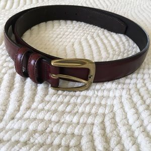 Other - Burgundy Cordovan brown leather belt